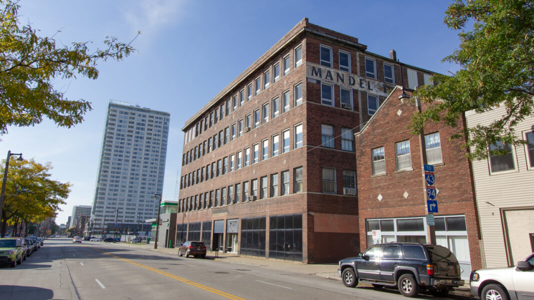 American Family's new downtown Milwaukee office will be located in the 110-year-old former Mandel printing building near the northwest corner of West McKinley Avenue and North Dr. Martin Luther King Jr. Drive.