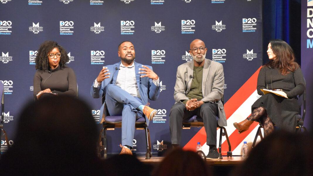 Lafayette Crump speaks at a DNC Community Conversation event.