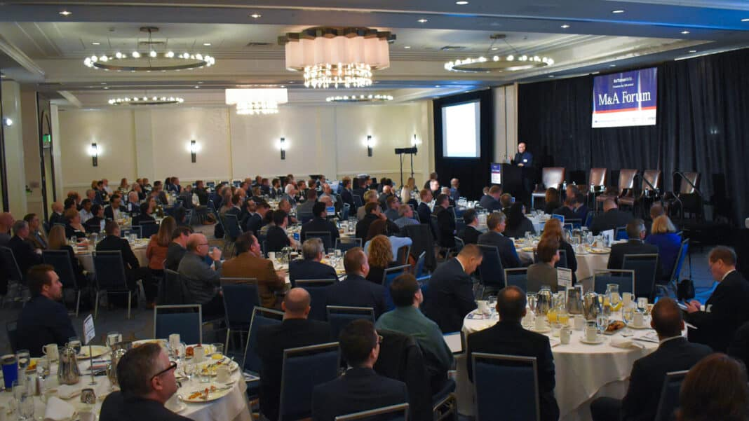 Nearly 200 area business leaders attended the event at the downtown Milwaukee Marriott.