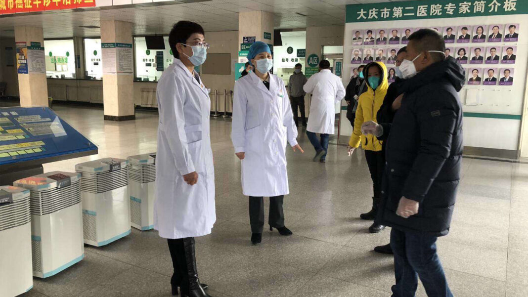 Air purification units donated by A.O. Smith arrive at Chinese hospitals.