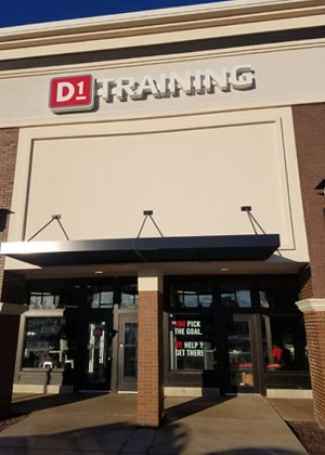 D1 Training occupies a former Men's Warehouse space at the Mequon Pavilions shopping center.