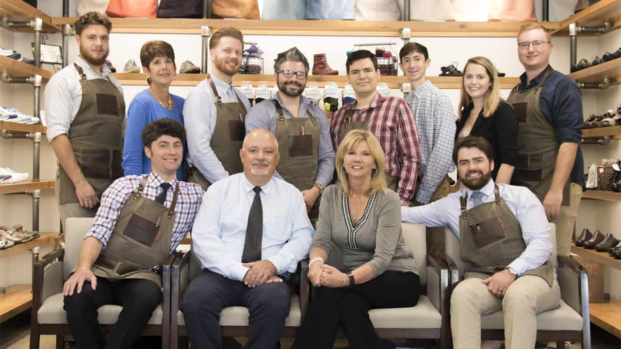 The Chiappetta family with employees of Kenosha-based Chiappetta Shoes.