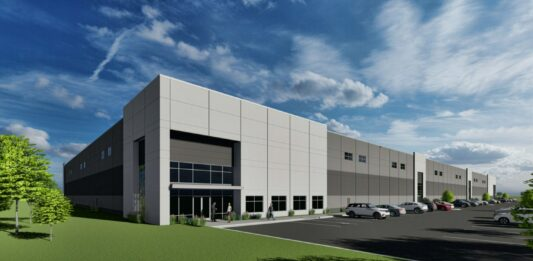 Zilber 4 building at Gateway Corporate Park in Germantown. Rendering: Stephen Perry Smith Architects Inc.