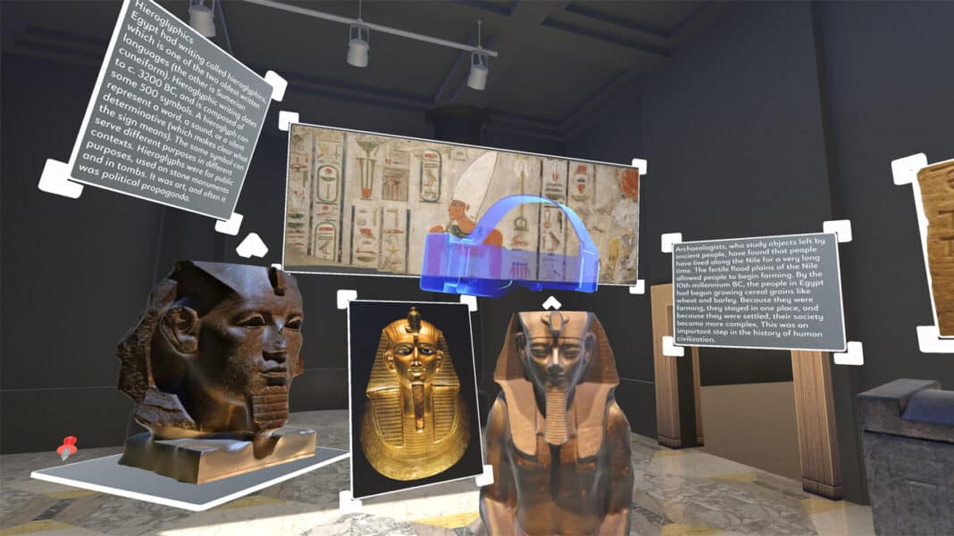 Holos provides students with learning experiences using virtual and augmented reality, including this ancient Egypt exhibit.