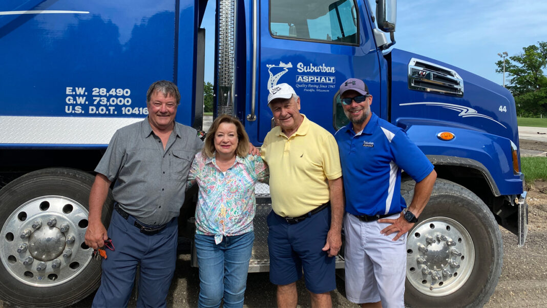 Bob Picchiottino (nephew, Vice President of Logistics), Jane Buss (wife of Terry Sr and original Office Manager), Terry Buss Sr (founder) and Terry Buss Jr. (son of Terry Sr. and President).