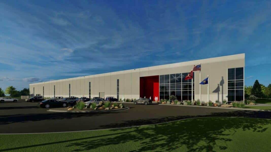 Milwaukee Tool technology center in Menomonee Falls. Rendering: Stephen Perry Smith Architects Inc.