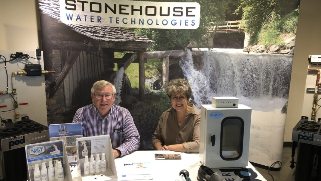 Stonehouse Water Technologies chief executive officer Hensley Foster and vice president Anne Wick.