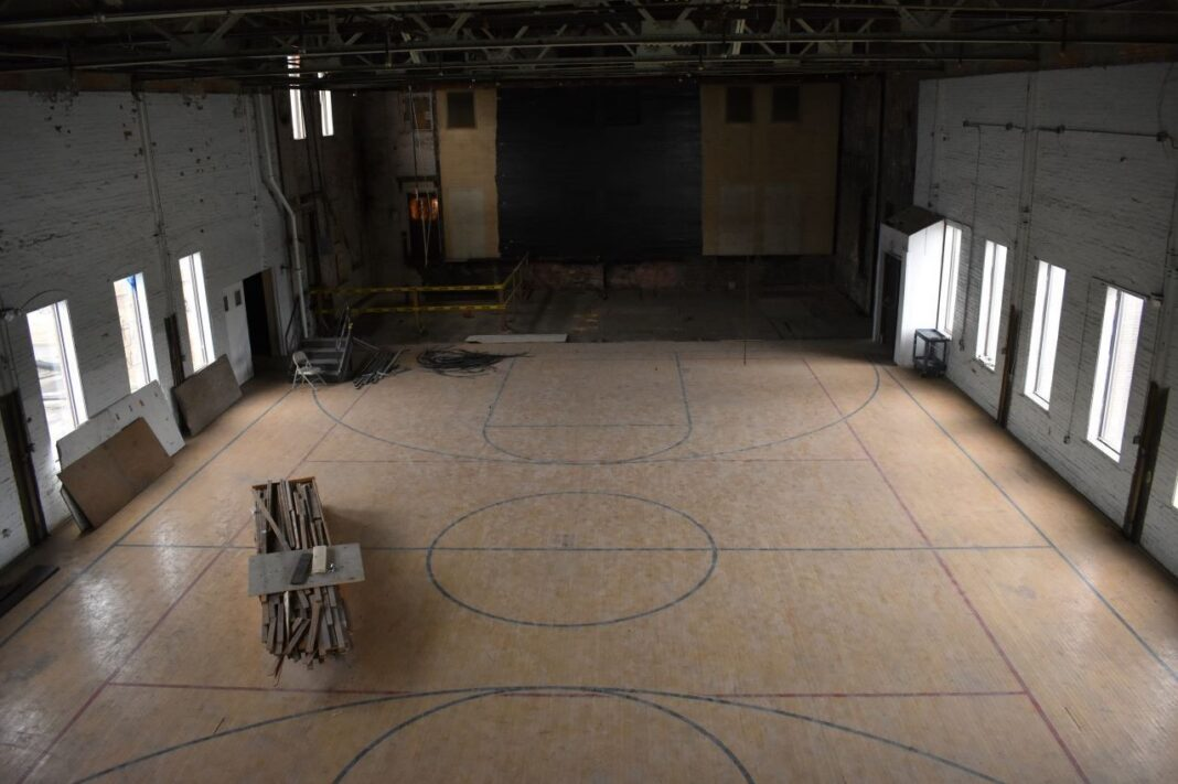 The former gym will be turned into the main museum space.