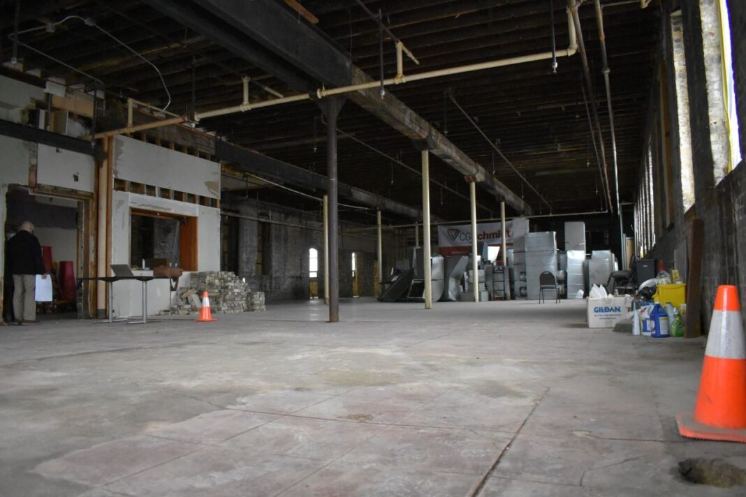 Future Bucyrus Club main banquet hall