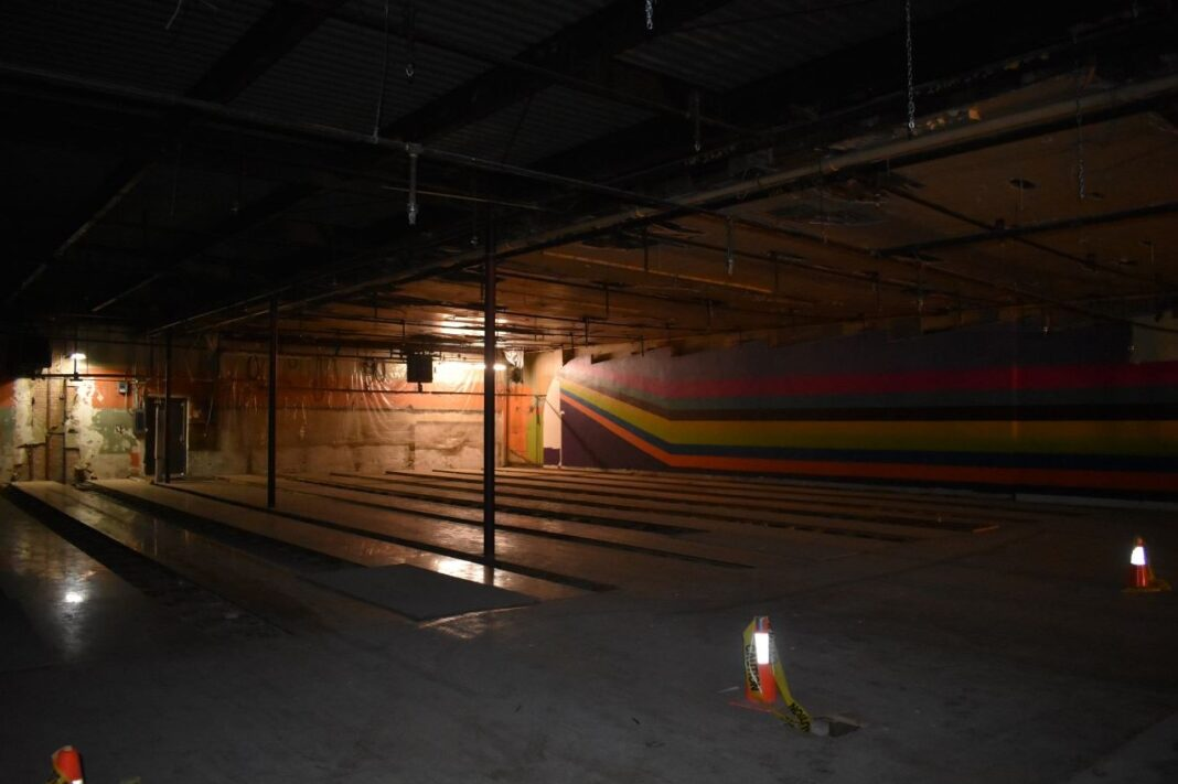 The former bowling alley will become part of the Skyline Catering banquet and event center