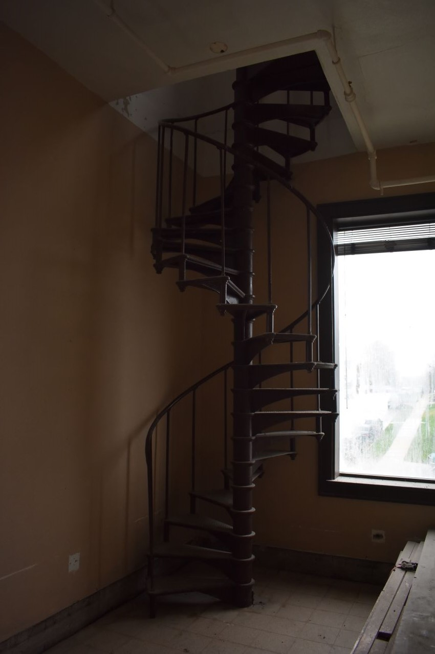 The old spiral staircase connecting the second and third floors will remain.