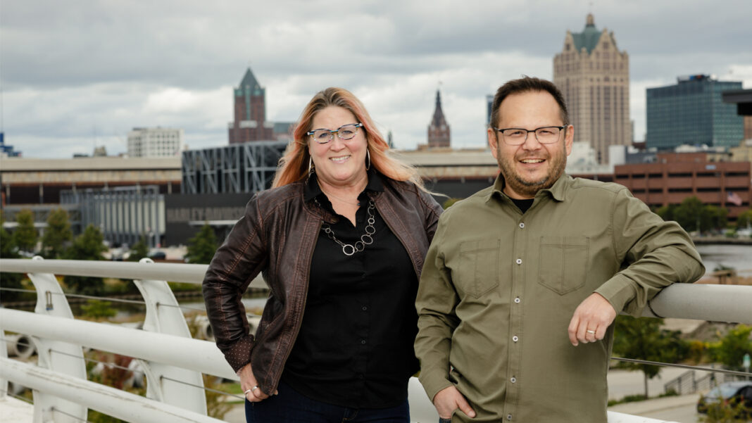 Erica Conway and Ken Ostermann, co-founders of Talimer.