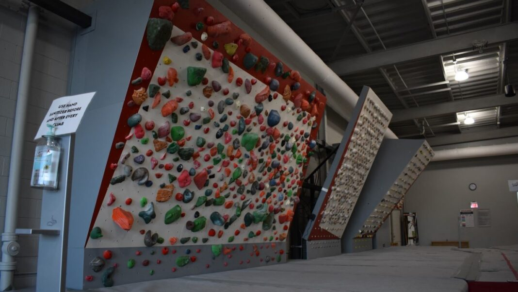 """Climbing walls with programmable climbing paths, or """"routes"""""""