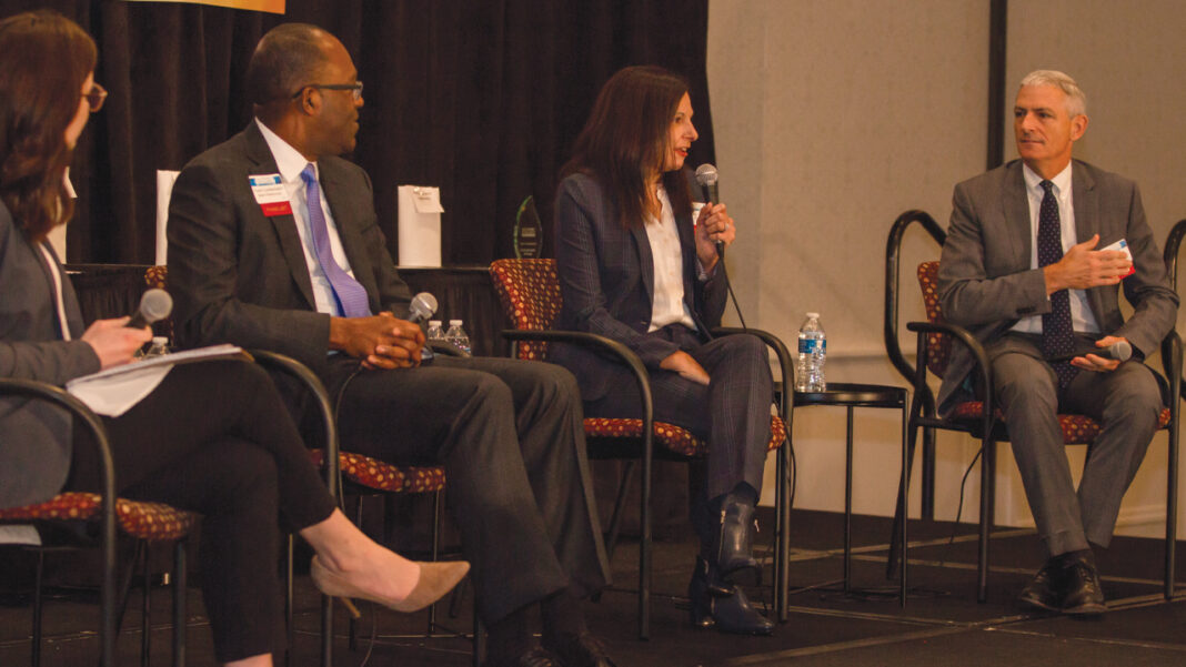Frank Cumberbatch, Amy Lovell and Michael Lovell discussed the goals of Scaling Wellness in Milwaukee at BizTimes Media's Nonprofit Excellence Awards.