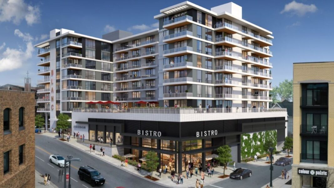 "Barrett Lo's ""Blanc on Blanchard"" proposal. Rendering: KTGY Architecture + Planning"