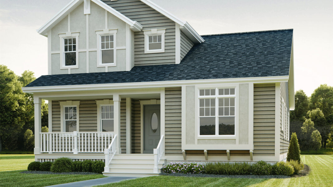One of the models offered for new houses being built in the Josey Heights and Walnut Circle subdivisions of Milwaukee.