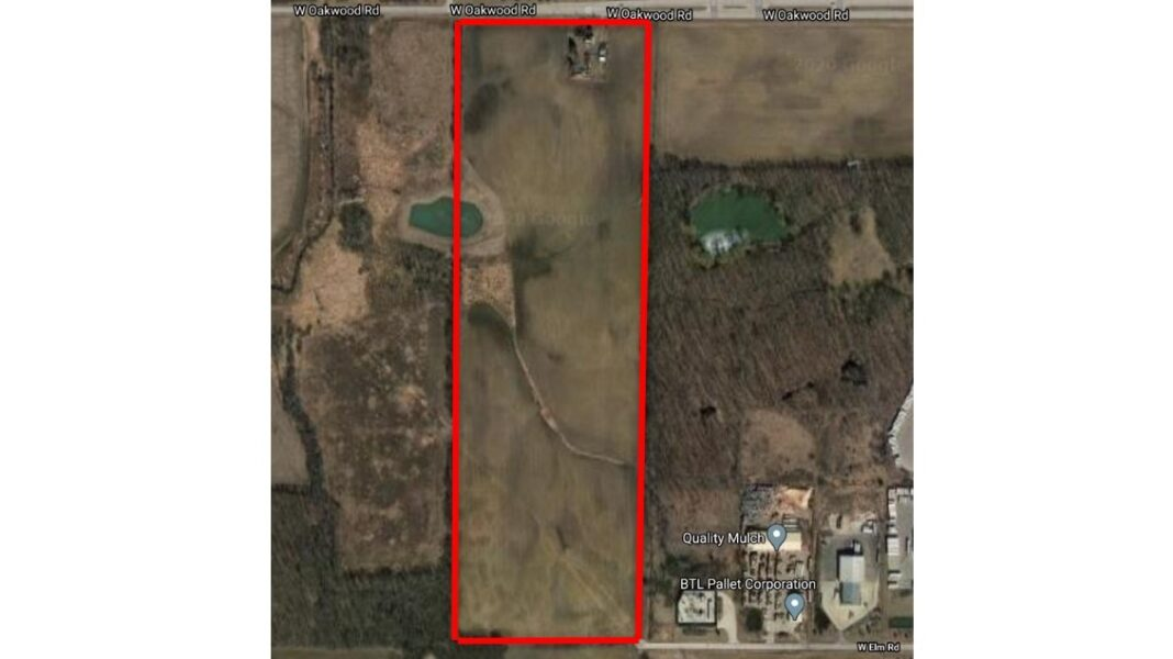 Site of Wangard Partners Inc.'s planned 'Oakwood Industrial' project in Franklin. Credit: Google and city records